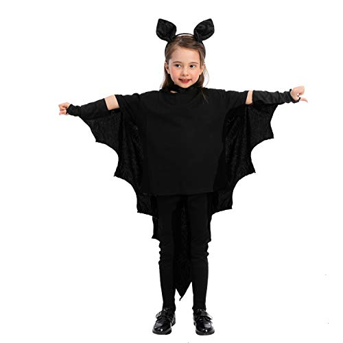 Vampire Bat Costume for Kids Bat Wings Costume w/headband for Cosplay,...