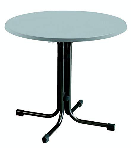 acamp Esstisch Gartentisch Bistrotisch Piazza 80 cm rund anthrazites Gestell mit INOX Topalit Tischplatte