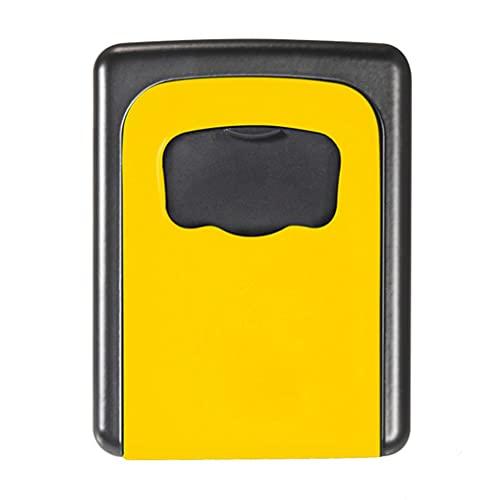 Caja Almacenamiento Llaves Caja Llave Cifrado Llave Metal Caja Llaves Multifunción Bloqueo Código Cuatro Dígitos para Almacenamiento De Claves Muebles (Color : A, Size : 8.5 * 11.5 cm)