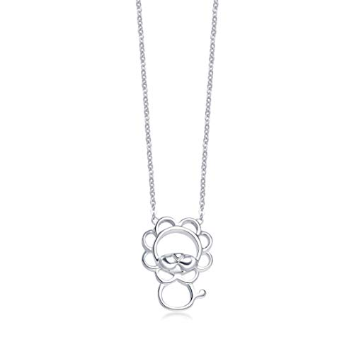 Carleen 925 Sterling Silver Open Lion Dainty Pendant Necklace For Women Girls, 16' + 2' Extender