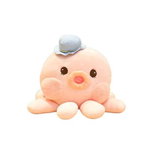 ADFW Tuxiang Lindo Pulpo Peluche Juguete Suave Peluche muñeca cumpleaños Regalo de San valentín para niños niñas niños Adultos (Rosa 30 cm)