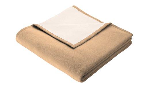 biederlack 241810 - Manta, 150 x 200 cm, 50% Lana Virgen y 50% algodón, Color marrón