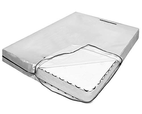 Nuovoware Custodia per Materasso Matrimoniale 203x193 cm / 80 x 76 Pollici con 8 Maniglie Resistente e Cerniera per Spostamento e Stoccaggio Copertura Riutilizzabile Protezione per Materasso, Argento