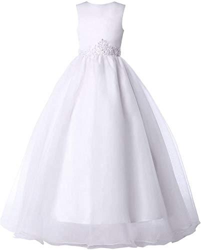 smilecstar prinses mouwloze bloemenmeisjesjurk vloerlange bruidsmeisjesjurk aanbiedingen bliksemaanbieding
