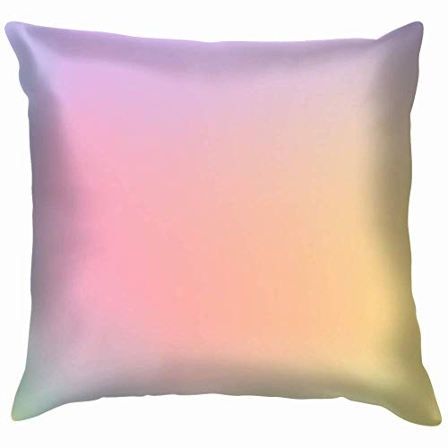 Moily Fayshow Light Pastel Rainbow Colors Pillow Case Throw Pillow Cover Square Cushion Cover 16X16 Inch