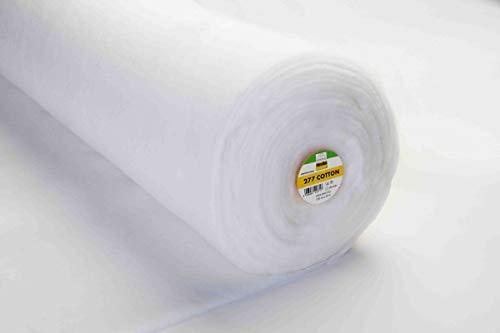 Vlieseline Volumenvlies Baumwollwatte Patchwork Vlies Baumwolle 277 Cotton weiß 1,50m Breite
