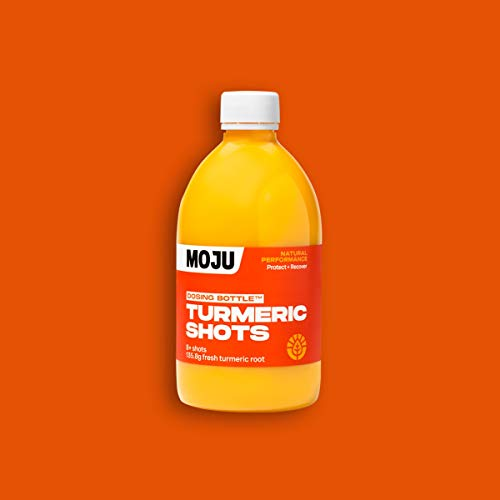 MOJU Turmeric Dosing Bottle   Turmeric, Black Pepper   Family Shot Pack   6 x 500ml