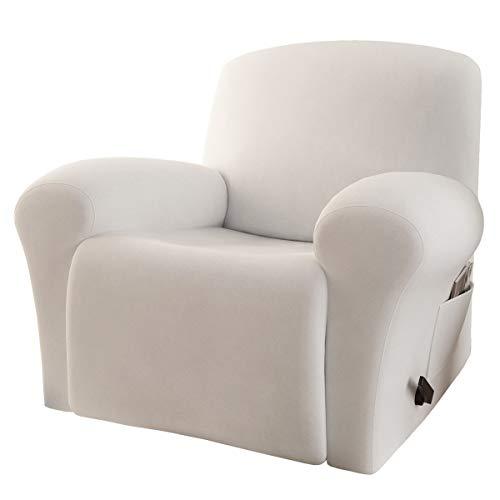 RHF 4 Separate Piece Velvet Recliner Slipcovers, Recliner Chair Cover, Recliner Cover Furniture...