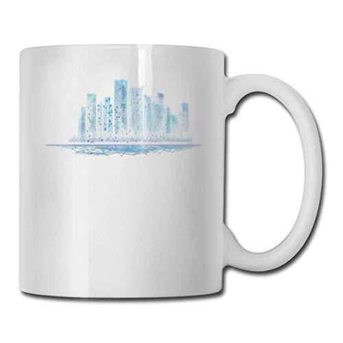 Blue Cool City Koffie Mok, 11 Oz Koffie Mok, Grappige Koffie Mok Thee Beker, Nieuwigheid Verjaardag Gift Ideeën voor Mannen Vrouwen