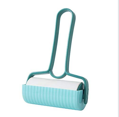 Rodillo quitapelusas con Tapa Protectora + Pack 7 recambios-quitapelusas Multiusos. Rodillo quitapelos Mascotas. Limpiador alfombras sofá y moqueta (Azul Turquesa)