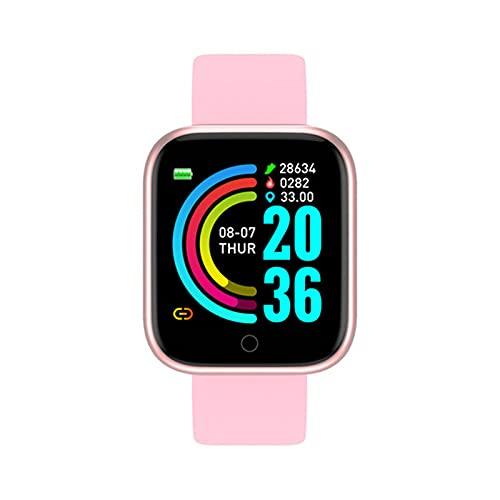 zyz Y68 Smart Watch Sports Fitness Tracker, Presión Arterial Y Monitor De Frecuencia Cardíaca, Impermeable, Bluetooth Smart Pulsera,B