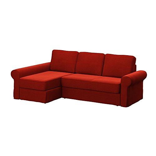 Soferia - IKEA BACKABRO Funda para sofá con chaiselongue, Elegance Dark Orange
