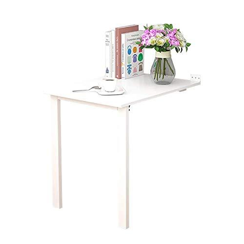 Keukenwand eettafel inklapbaar uitklapbaar bureau ruimtebesparend voor slaapkamer hal wit (grootte: 90cm times; 60cm) 80cm×80cm