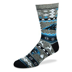 Carolina Panthers Christmas Socks