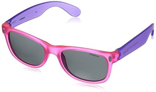 Polaroid P0115 Y2 IUB Gafas de sol, Morado (Violet Pink Fluo/Grey Polarized), 46 Unisex Niños