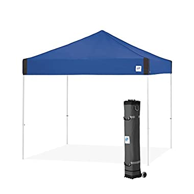E-Z UP Pyramid Instant Shelter Canopy, 10 by 10', Royal Blue