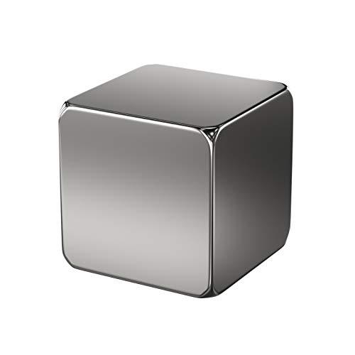 1x Neodym Power Magnet Silber - Magnetwürfel extra stark eckig 20x20x20mm - Starke Magneten Supermagnet - Haftkraft ca. 21 kg - Magnete für Whiteboard, Pinnwand, Magnettafel, Werkstatt