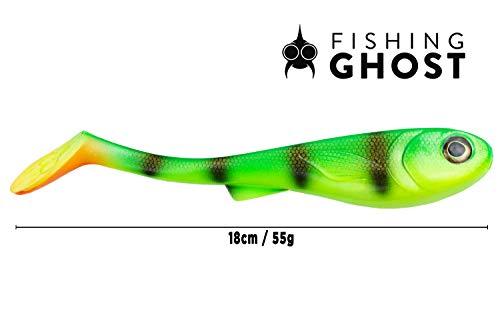 FISHINGGHOST® XL Hechtköder GrumpyOne Select Extreme Schwimmaktion 55gr 18cm