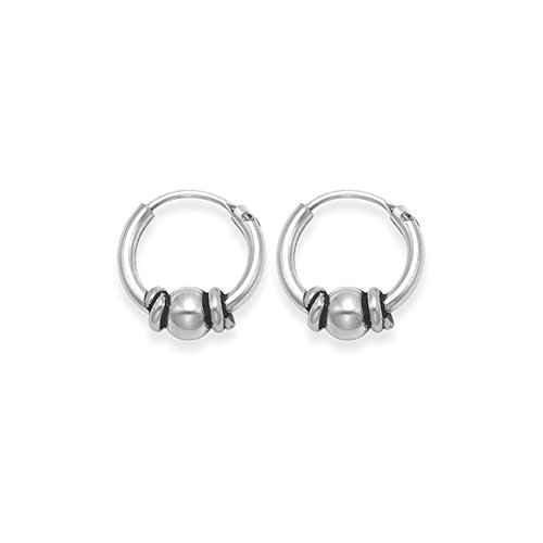 Heather Needham Sterling Silver Bali Hoop earrings - Size- SMALL 9.5mm Gift...