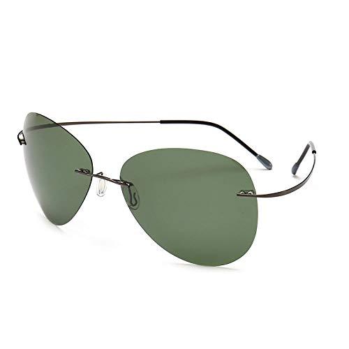 Gafas de sol para hombre Driving Drive Ink polarizadas, espejo de día y noche, lentes de color de dos usos, caja de pistola con tinta verde