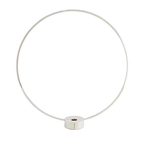 "Klong Kerzenständer ""Gloria"" Gross in Silberfarbe - Messing versilbert - (H/B/L): 44x41x7,5 cm - Rund - Designpreis - kombinierbar als Vase - Skandinavisches Design"