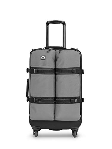 OGIO Alpha Convoy 526s Eco-Cordura 4-Wheel Spinner Check-in Travel Bag with Single-Piece Moulded Back, Charcoal, 67 cm-56 Litre