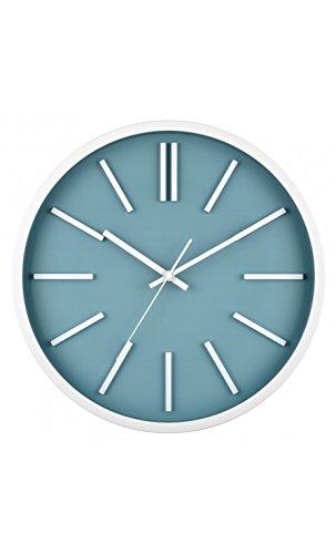 La Chaise Longue - Horloge SOHO bleu ardoise et blanche