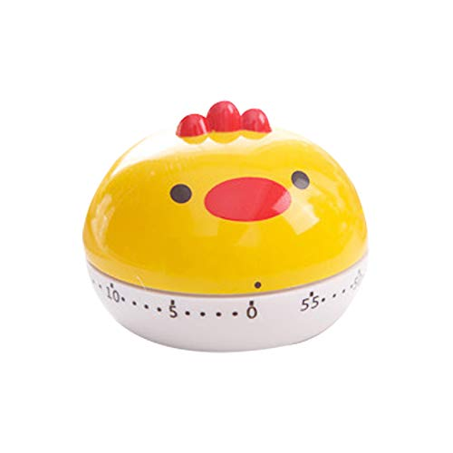 Anjing Timer Reminder Student Kitchen Alarm Clock Mechanical Stopwatch Countdown Cute Time Manager Yellow