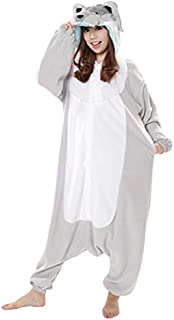 シルバーオオカミ 着ぐるみ コスチューム 男女共用 フリーサイズ