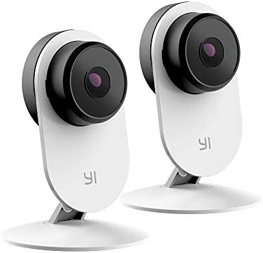 YI 2pc Security Home Camera 3 Baby Monitor, 1080p WiFi Smart Indoor Nanny IP Cam with Night Vision, 2-Way Audio, Motion Detection, Phone App, Pet Cat Dog Cam – Works with Google