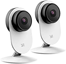 YI 2pc Security Home Camera 3 Baby Monitor, 1080p WiFi Smart Indoor Nanny IP Cam with Night Vision, 2-Way Audio, Motion Detection, Phone App, Pet Cat Dog Cam - Works with Google