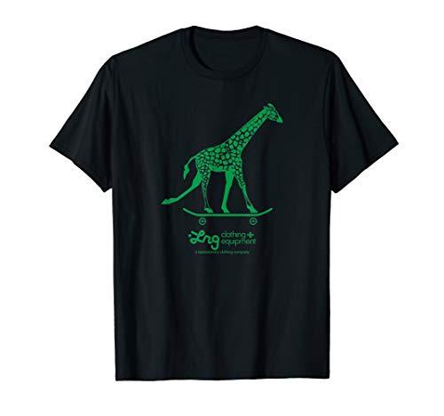 Herren LRG Giraffe auf einem Skateboard T-Shirt