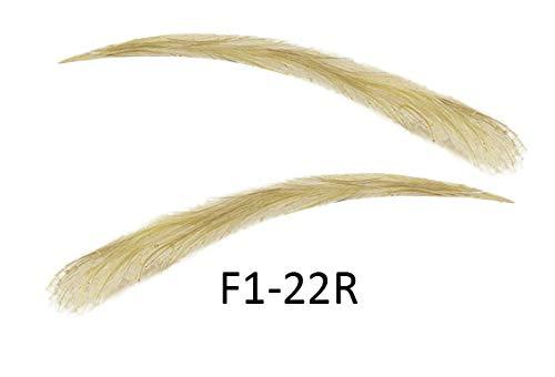 Künstliche, semi-permanente Augenbrauen aus 100% Echthaar zum Aufkleben - handgemacht (F1-22R)