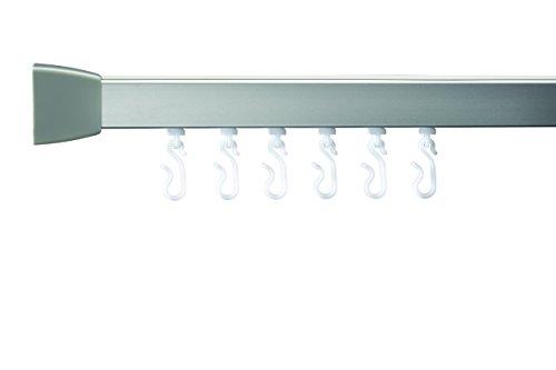 Croydex Profil 800 U-Schiene 760x760x760-Silber, Aluminium, Silber, 76x76x3 cm