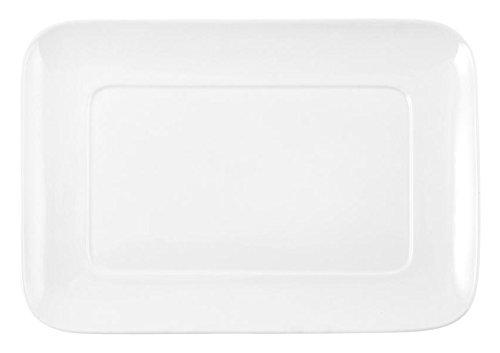 HOTELWARE Plat rectangulaire 27 x 19 cm, Porcelaine, Blanc