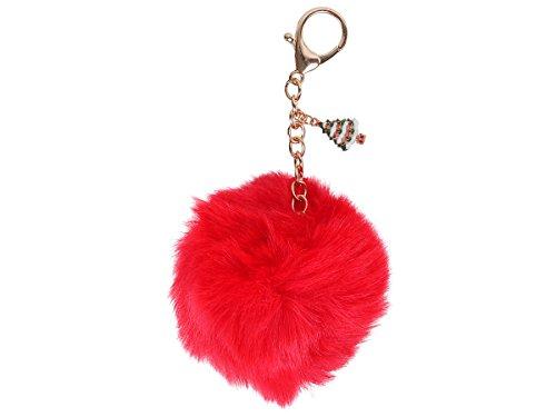 Fellbommel Weihnachten Geschenkidee Schlüsselanhänger Handtasche Anhänger Fellanhänger von Alsino, Variante wählen:P529022 Tannenbaum