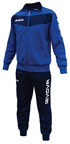 menitashop Tuta GIVOVA Uomo Donna Visa Fitness Calcio Blu Nero Bianco Giallo Rosso (Azzurro/Blu, S)