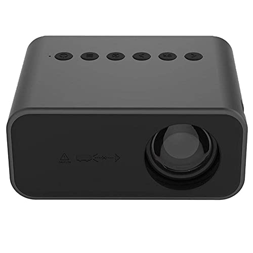 ZHAOHGJ Worth Having - Mini proiettore a LED Home Theatre Proiettore Beamer Supporta 1080p USB Audio Domestico Portatile Media Player Scherza Il Regalo, Nero