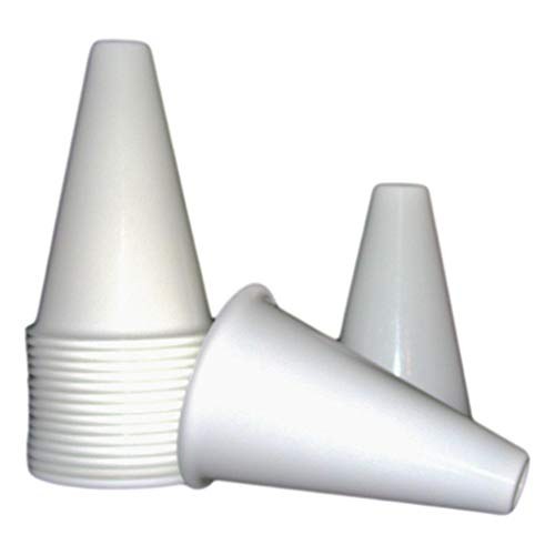 Plastic Cheerleading Megaphones, 8 Inches Tall, (16 Pack), White