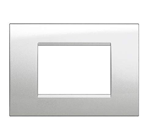 takestop® PLACCA PLACCHETTE frame kunststof 2 stuks zilver JK_LK40704 Quattro USCITE MODULO POSTI masker PLACCHE materiaal elektrisch