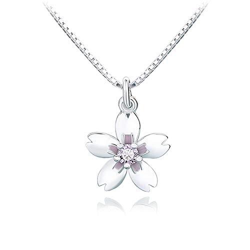 Fairy Heart 桜ネックレス ピンク 美しい仕上がり スーパーキュービックジルコニア