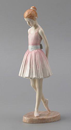 22 cm Porzellanfigur Junge Mädchen Ballerina stehend rosa