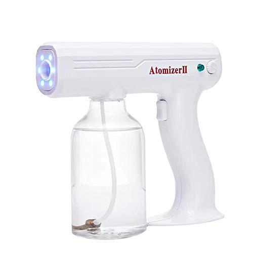 Nano Electric ULV Spray Gun Fogger Portable Mini Sprayer 1200W Disinfection Machine Water Mist Steam Gun Spray Machine with Blue Light for Home Indoor Outdoor Barber Shop