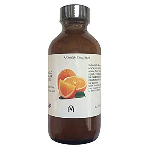 OliveNation Orange Flavor Emulsion for Baking, Water Soluble, Kosher, Gluten Free, Vegan - 8 ounces