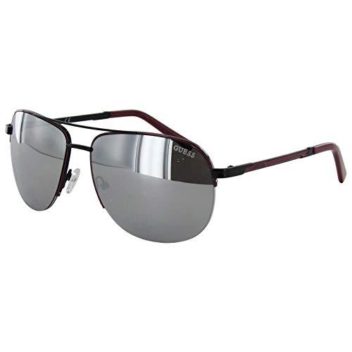 Guess Gafas de sol de aviador con espejo GF0164-01C-62 para hombre