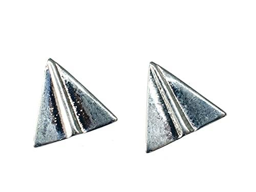Miniblings Papierflieger Ohrstecker Ohrringe Origami Flugzeug Style silber - Origineller Modeschmuck I Ohrringe Stecker Ohrschmuck