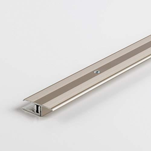 Parador Boden-Profile Übergangsprofil Aluminium Edelstahl für Vinyl/Laminat Bodenbeläge 7-15 mm