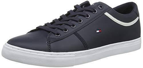 Tommy Hilfiger Herren Essential Leather Sneaker, Blau (Desert Sky Dw5), 44 EU