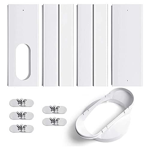 Uniqal - Kit finestra per condizionatore d'aria con attacco regolabile, guarnizione per finestra per unità AC, kit di ventilazione per tubo di scarico