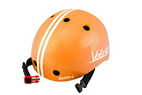 Vola 50 Brn, Casco Bicicleta para Bebe, 170gr (Naranja, XXS 44-48cm)